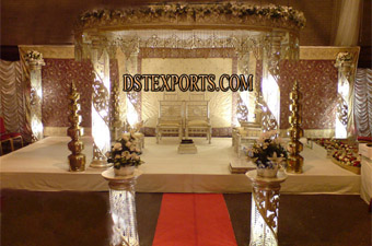 Wedding New Fiber Crystal Mandap