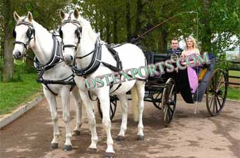 Beautiful Black Victoria Carriages