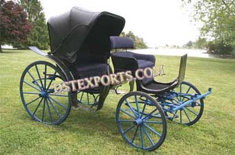 Beautiful Black Two Seater Carriages