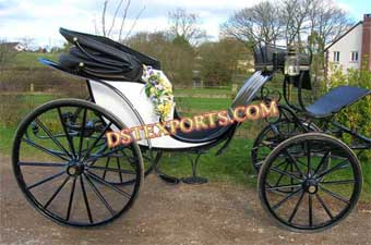 White And Black Two Seater Carriages