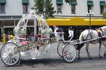Wedding Flowered Cinderella Carriage