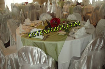 Wedding Silver Chair Covers With Sashas