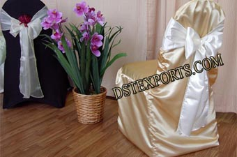 Latest Wedding Golden Chair Cover