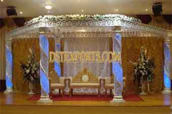 New Wedding Silver Crystal Mandap