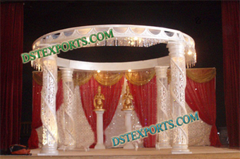 Latest Designer Wedding Carved Crystal Mandaps