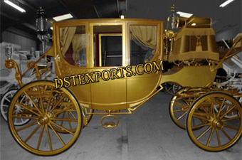 Golden Royal Horse Carriage