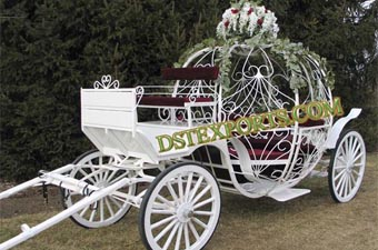 Wedding Beautiful White Cinderella Carriage