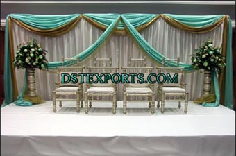 Wedding Stage With Sankheda Chairs