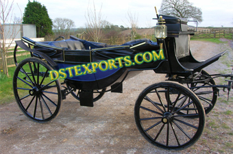 Wedding Royal Black Victoria Horse Carriage