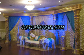Wedding New Gold Pillars Lighted Stage