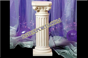 Wedding  Small White Roman Pillar