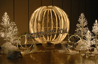Fully Lighted beautiful Cinderella Carriage