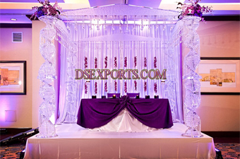 Wedding Latest Design Glass Crystal Mandap Set