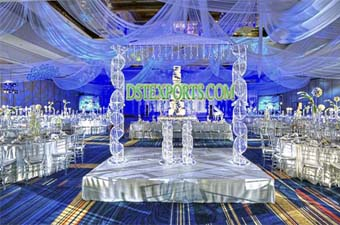 New Wedding Glass Crystal Mandap