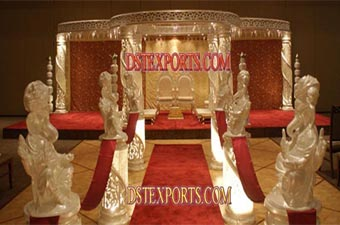 Wedding New Crystal Fiber Mandap