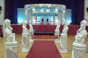 New Wedding Fiber Crystal Six Pillar Mandap