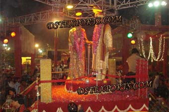 Indian Wedding Revolving Jai Mala Stage Set