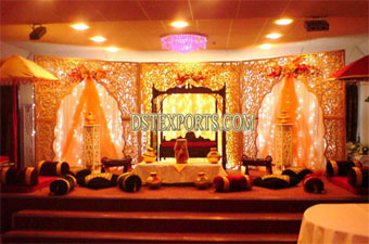 New Asian Wedding Carved Stage With Swing
