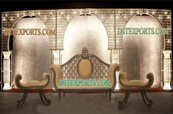 Asian Wedding Beautiful Lighted Crystal Backdrop