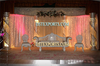 Latest Asian Wedding Fiber Crystal Stage Set