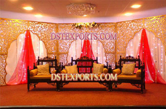 Muslim Wedding Stage With Antique Furniture