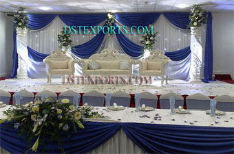 Wedding Royal Pearl Stage With Peacock Furniture