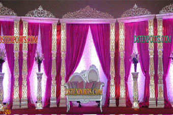 Latest Indian Wedding Stage Decoration Set