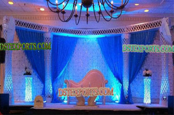 Latest Wedding Lighted Walima Stage Set