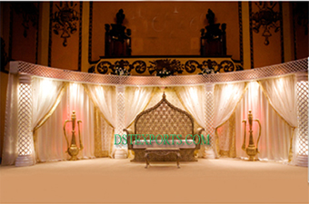 Latest Asian Wedding Light Stage Set