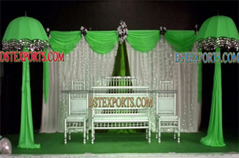 Muslim Wedding Mehndi Stage Decors with umberellas