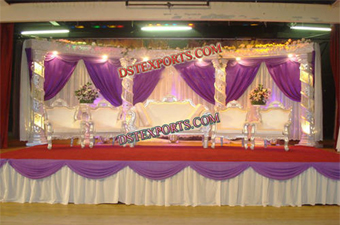 Muslim Wedding Crystal Night Stage Set