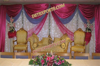 Elegent Nigerion Wedding Stage Decorations