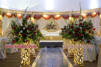 Latest Walima Stage Set With Beautiful Decorations