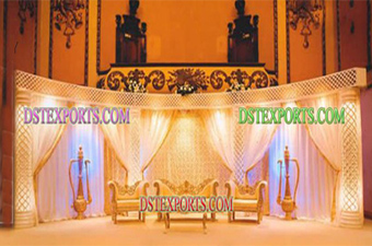 Desi Royal Wedding Night Lighting Stage Set