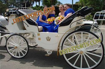 Latest White Tourist Victoria Carriage