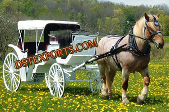 White Spring Victoria Horse Carriage