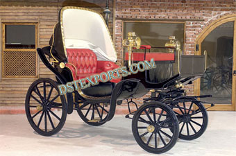 Royal Small Black Victoria Horse Carriage