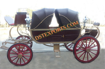 Wedding Royal Black Horse Carriage