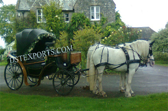 Stylish Black Victoria Double Horse Carriage