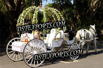 Wedding Flower Cinderella Horse Carriage