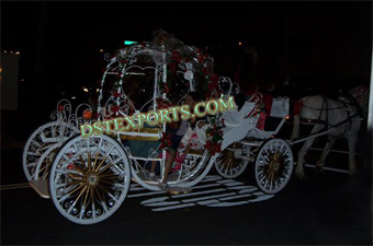 Lighted Wedding Cinderella  Horse  Carriage