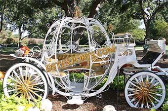 New Model White Cinderella Carriage