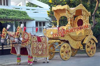 Rajwada Wedding Golden Horse Baghi