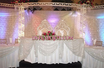 Asian Wedding Modern Pearl Crystal Stage Set