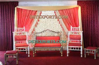 Indian Wedding Stage Set With Furniture