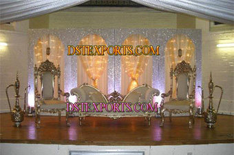 Asian Walima Silver Stage Set