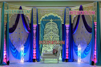 Muslim Wedding Fiber Carved Stage Set