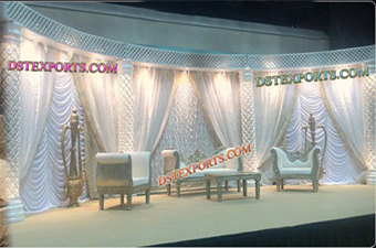 Wedding New Style Crystal Pillars Stage