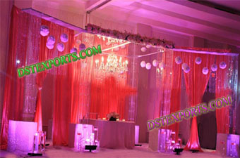 Wedding Latest Hanging Crystal Stage Set