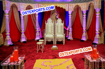 Special Indian Wedding Darbar Stage Set